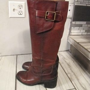 Lucky Brand Burgundy Leather boots  7